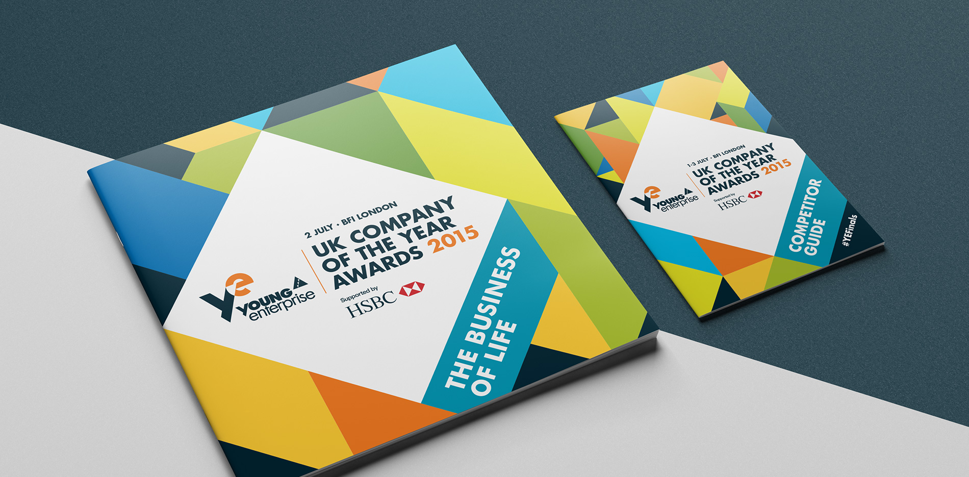 Young Enterprise company of the year brochure covers