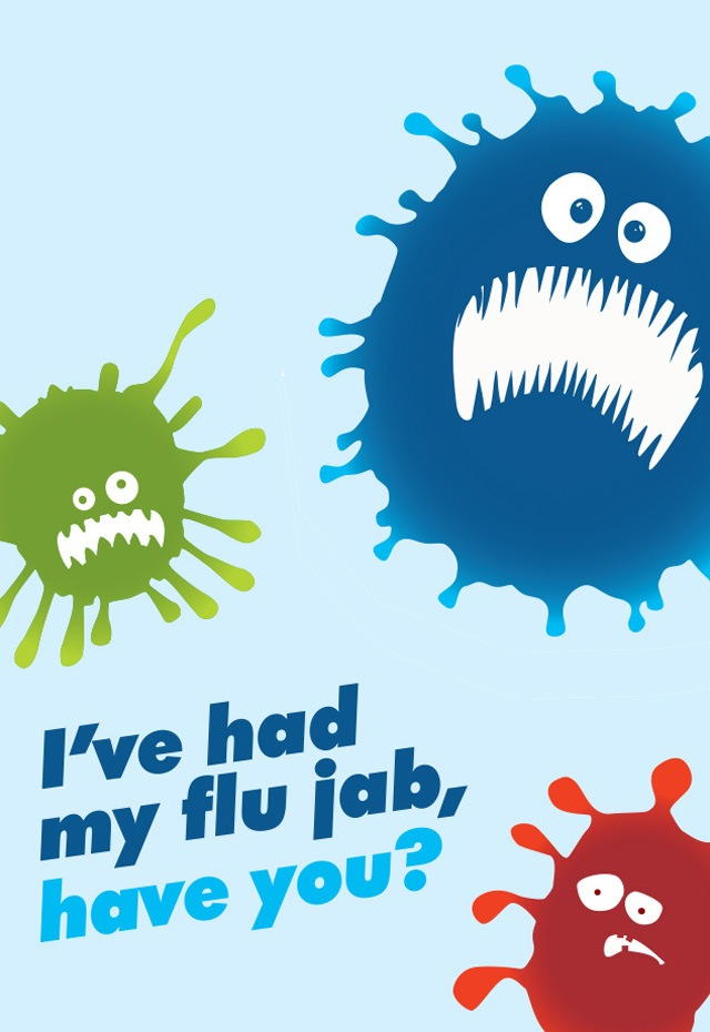 NHS flu fighter campaign image